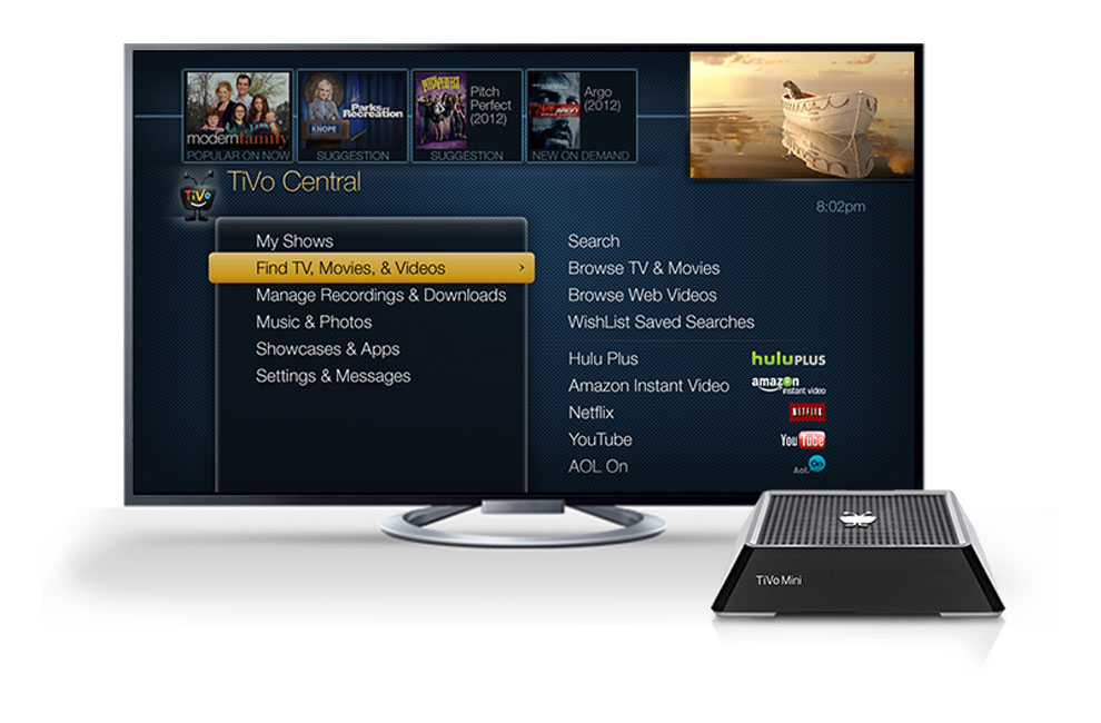 TiVo Roamio Interface